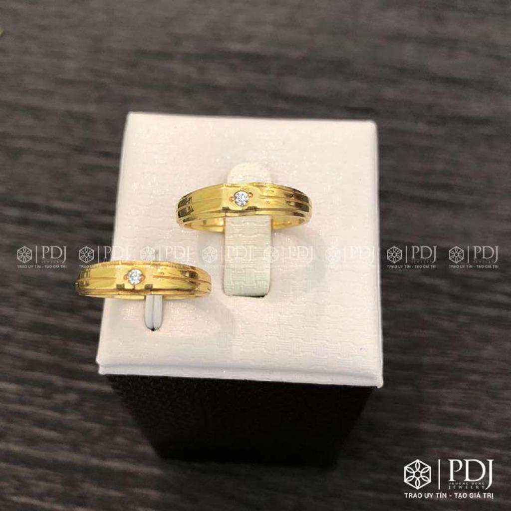 Nhẫn Đôi Nữ Vàng 12K Mã 01