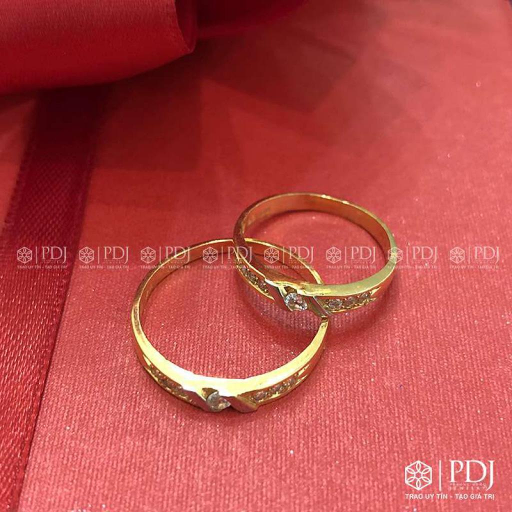 Nhẫn Đôi Nữ Vàng 15K Mã 02