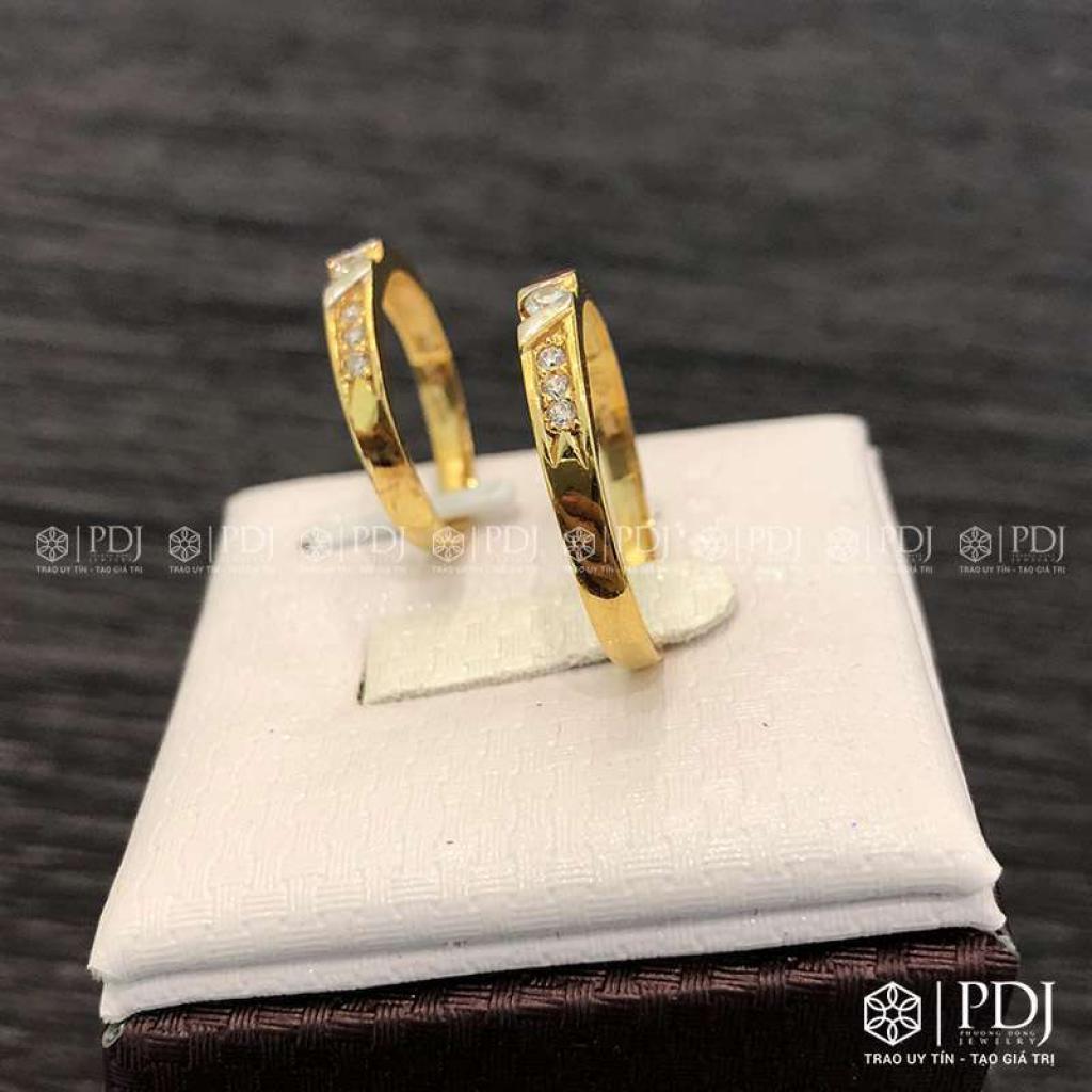 Nhẫn Đôi Nam Vàng 15K Mã 02