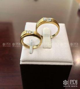 Nhẫn Đôi Nữ Vàng 12K Mã 03