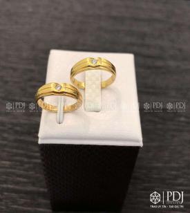 Nhẫn Đôi Nam Vàng 12K Mã 01