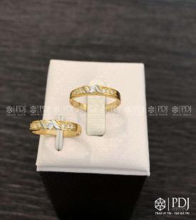 Nhẫn Đôi Nữ Vàng 12K Mã 02