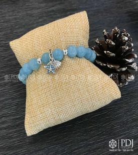 Vòng Aquamarine 8 ly charm Pandora