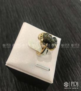 Nhẫn Tỳ Hưu Đá Sapphire Vàng 10K