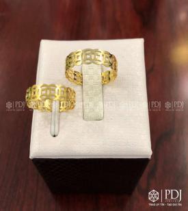 Nhẫn Kim Tiền Vàng 12K