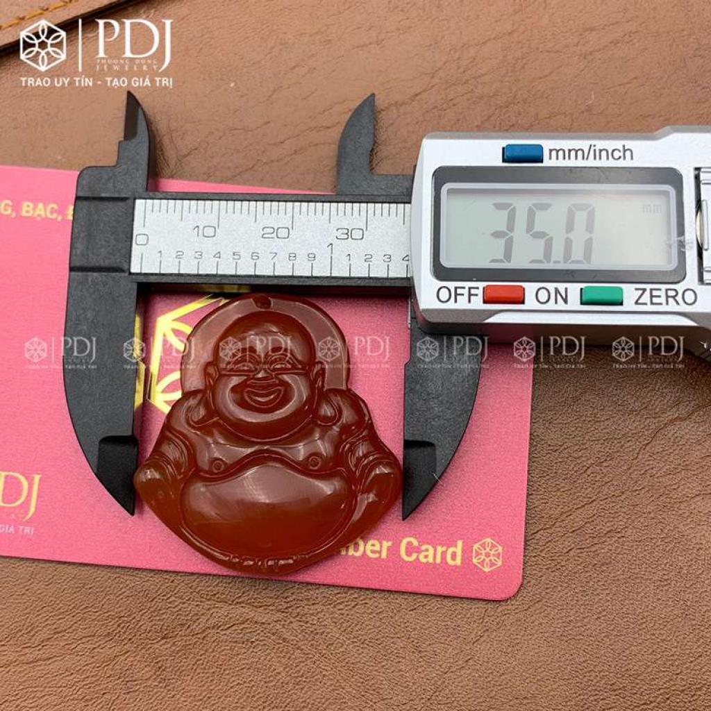 Mặt Phật Di Lặc Đá Mã Não Đỏ