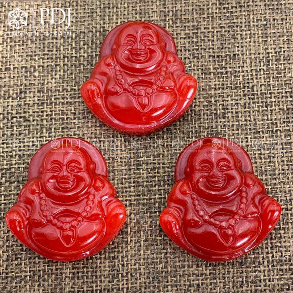 Mặt Phật Di Lặc Ngọc Đỏ