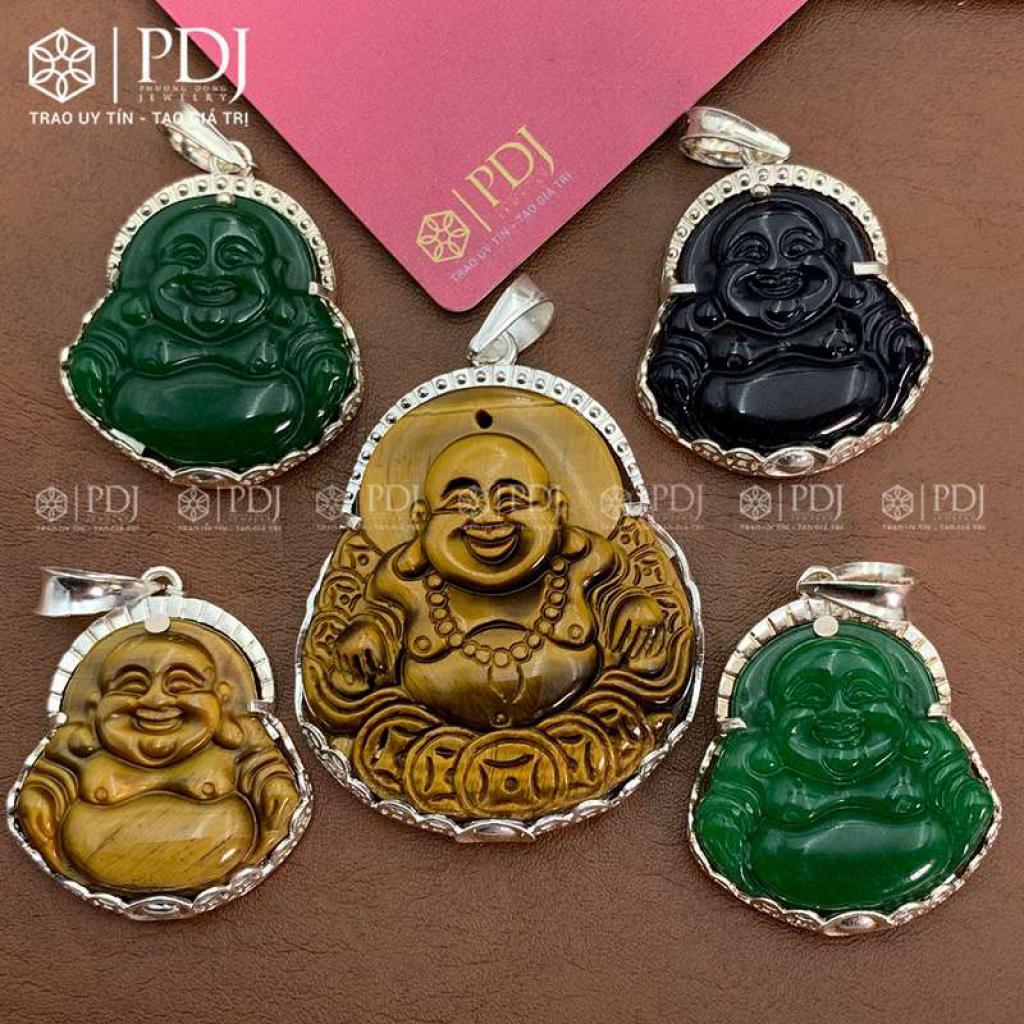 Mặt Phật Di Lặc Đá Thạch Anh Xanh
