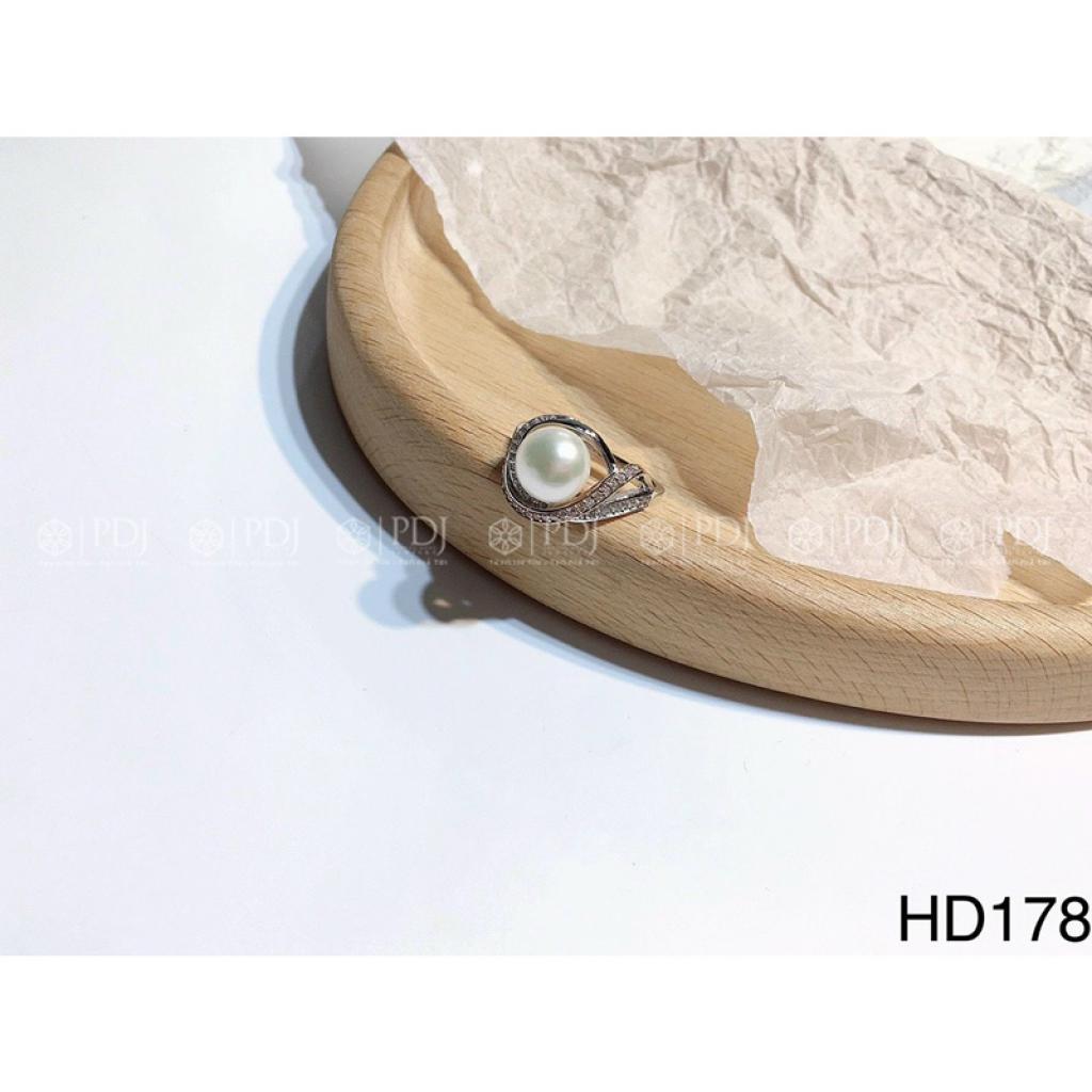 Nhẫn Ngọc Trai Bạc M178