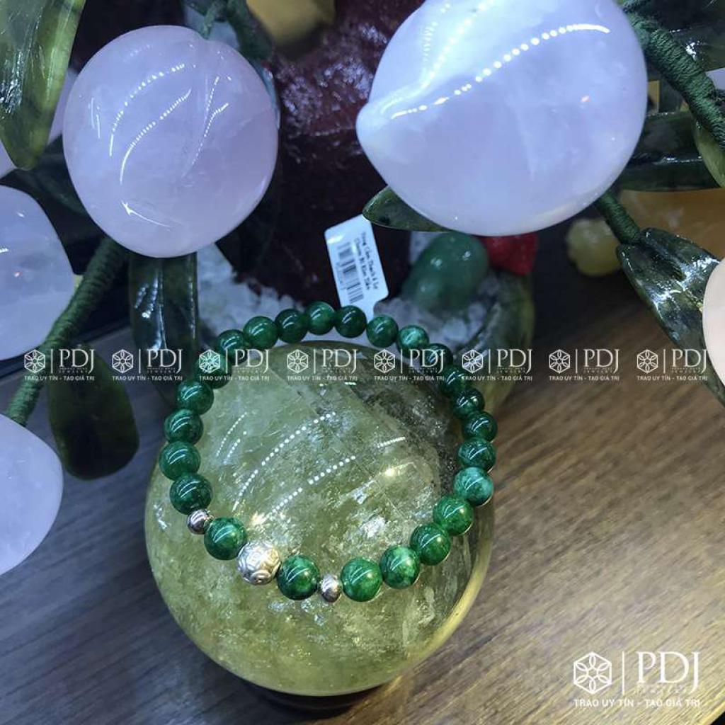 Vòng Cẩm Thạch 6 Ly Charm Bi Kim Tiền