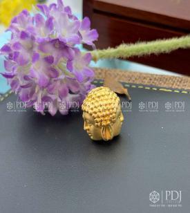 Charm Đầu Phật vàng 24k