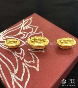Charm Đĩnh Vàng Cõng Tỳ Hưu 24K
