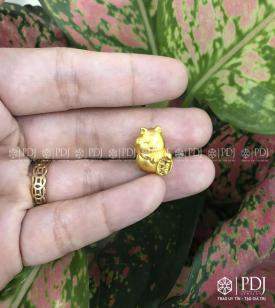 Charm Mèo Thần Tài 24k