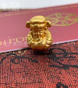 Charm Ông Thần Tài Bạc Si Vàng