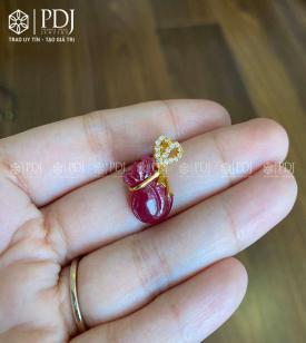 Mặt Túi Tài Lộc Ruby 10K M02
