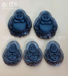 Mặt Phật Di Lặc Đá Thạch Anh Khói