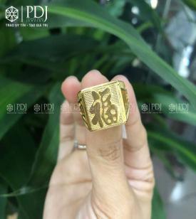 Nhẫn Nam Chữ Phúc 15K - M1