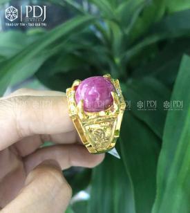 Nhẫn Nam Đá Ruby 15K - M1