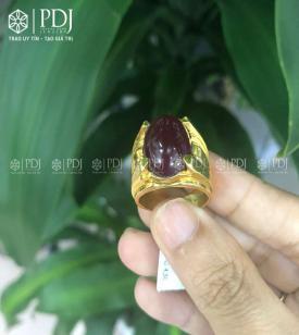 Nhẫn Nam Đá Ruby 15K - M3