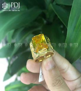 Nhẫn Nam Đá Topaz Vàng 15K - M2