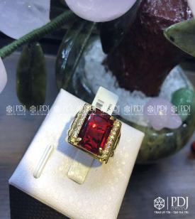 Nhẫn Nam Đá Đỏ 10K
